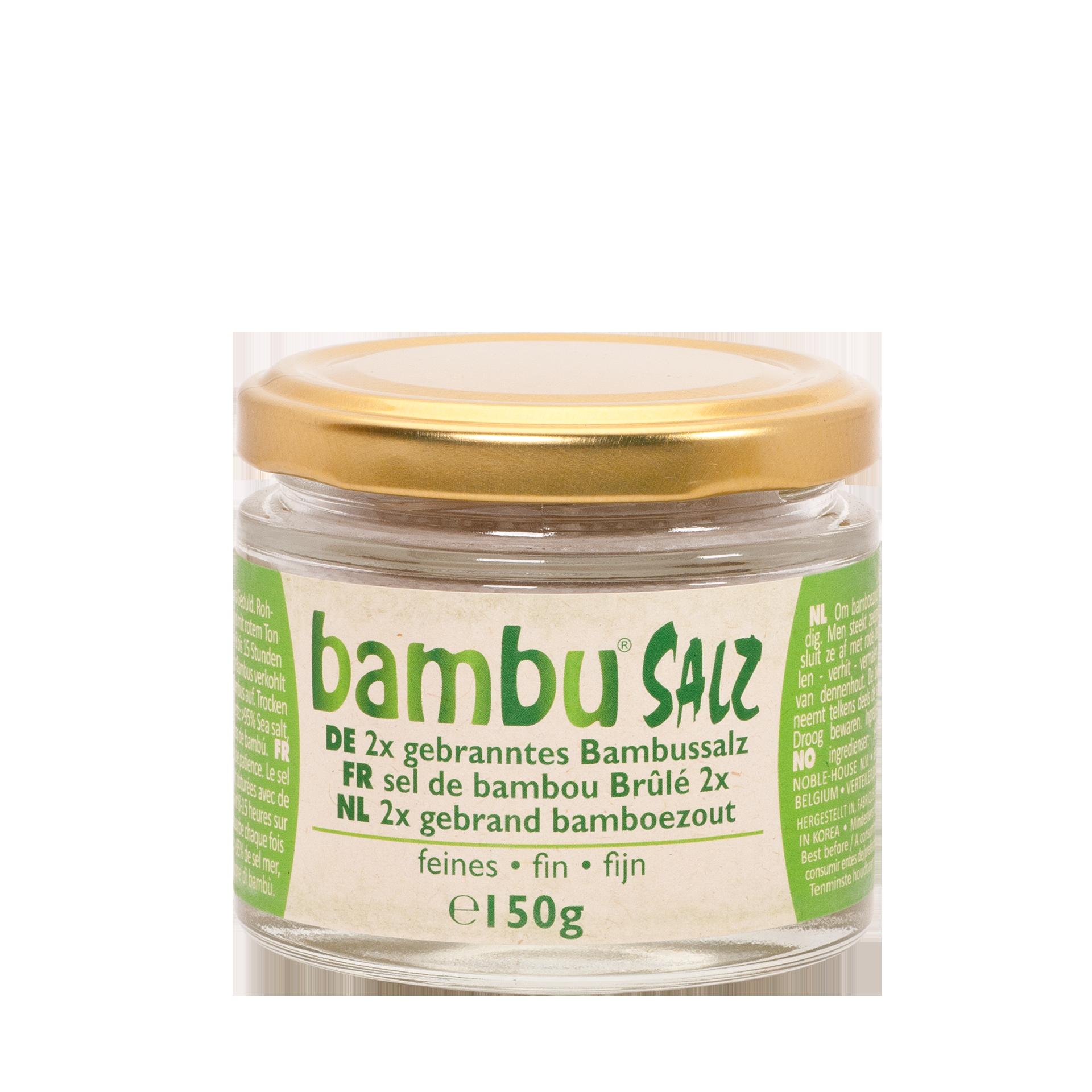 BambuSalz, 2x gebrannt, fein, 150 g