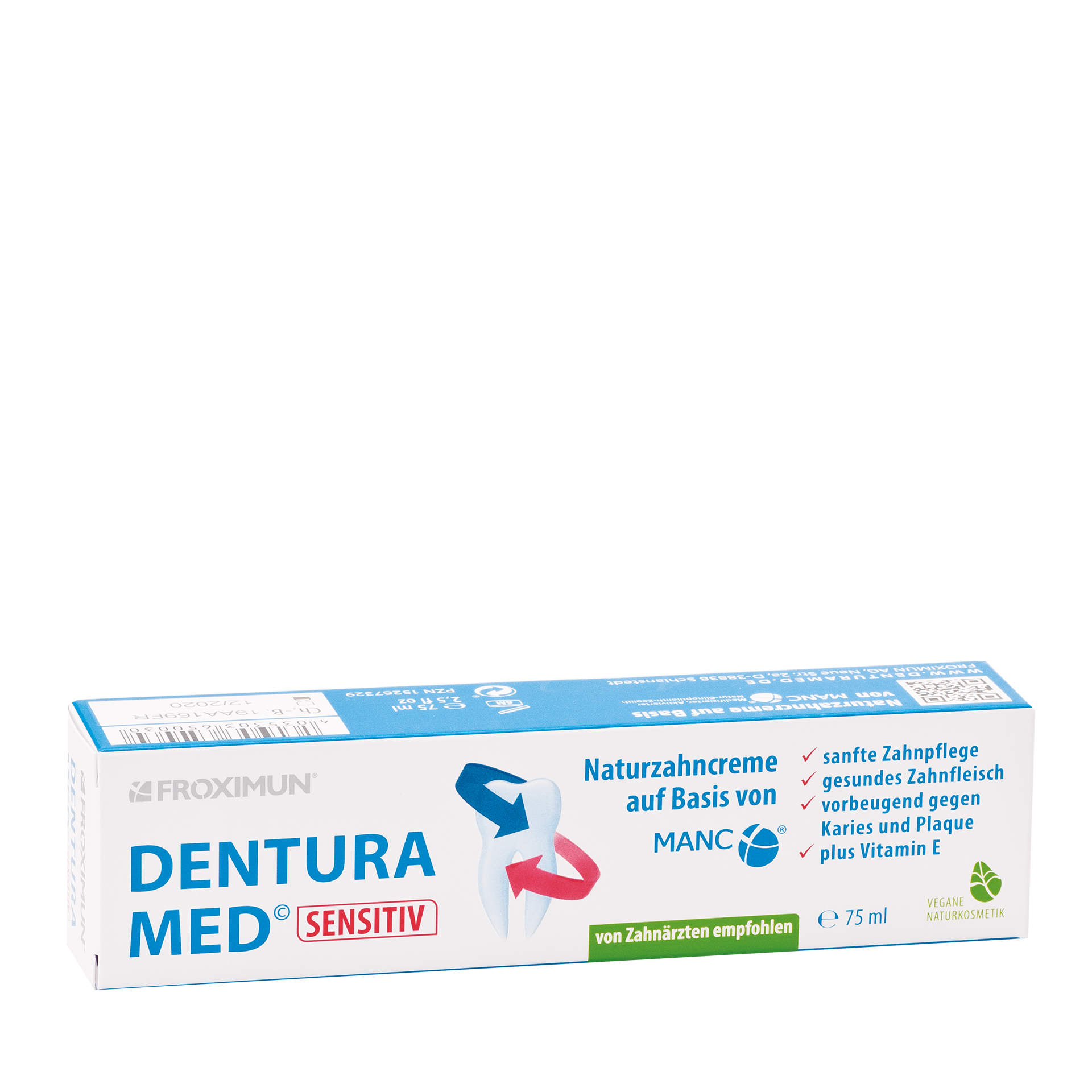 Dentura Med Sensitiv Zahncreme, 75 ml