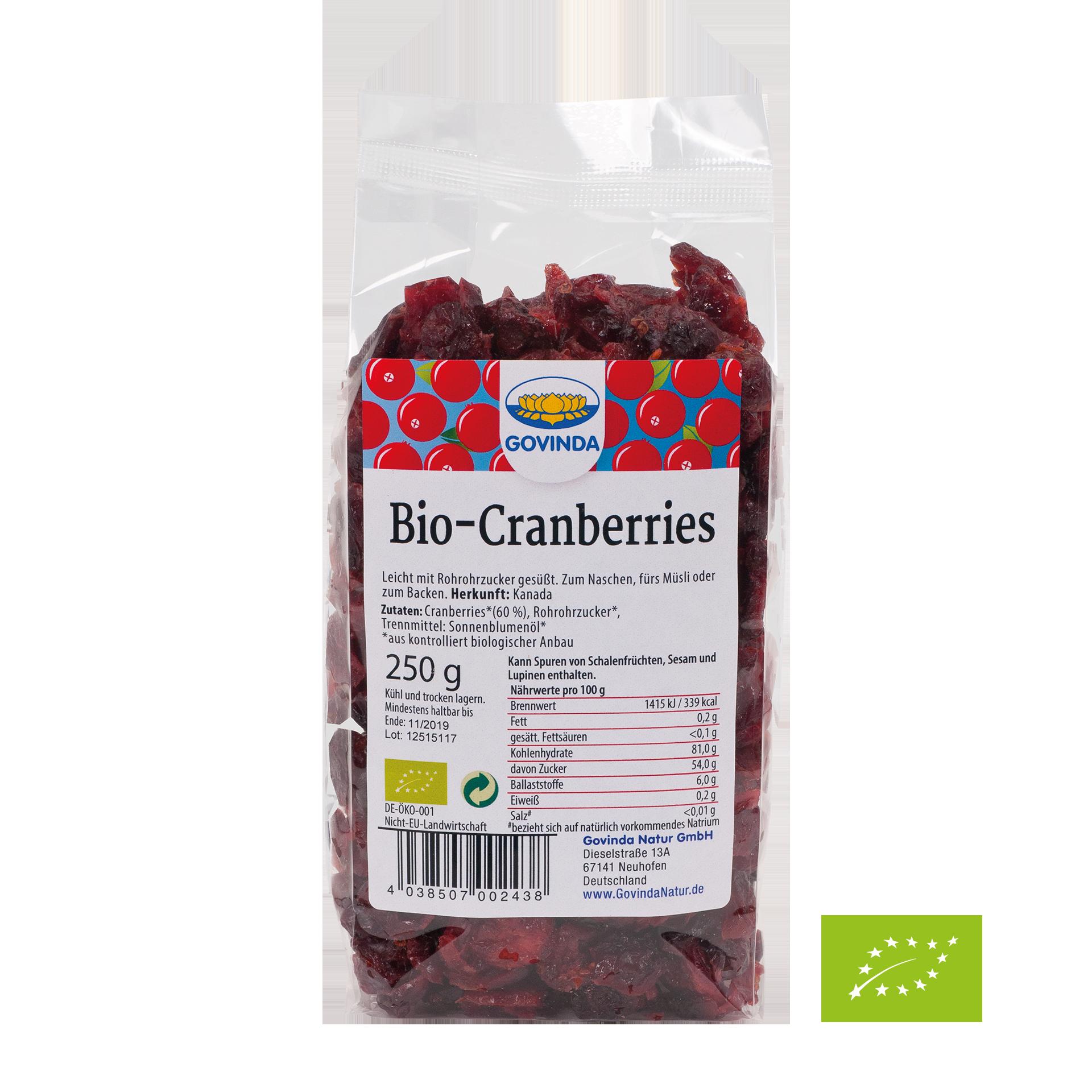 Bio-Cranberries, 250 g