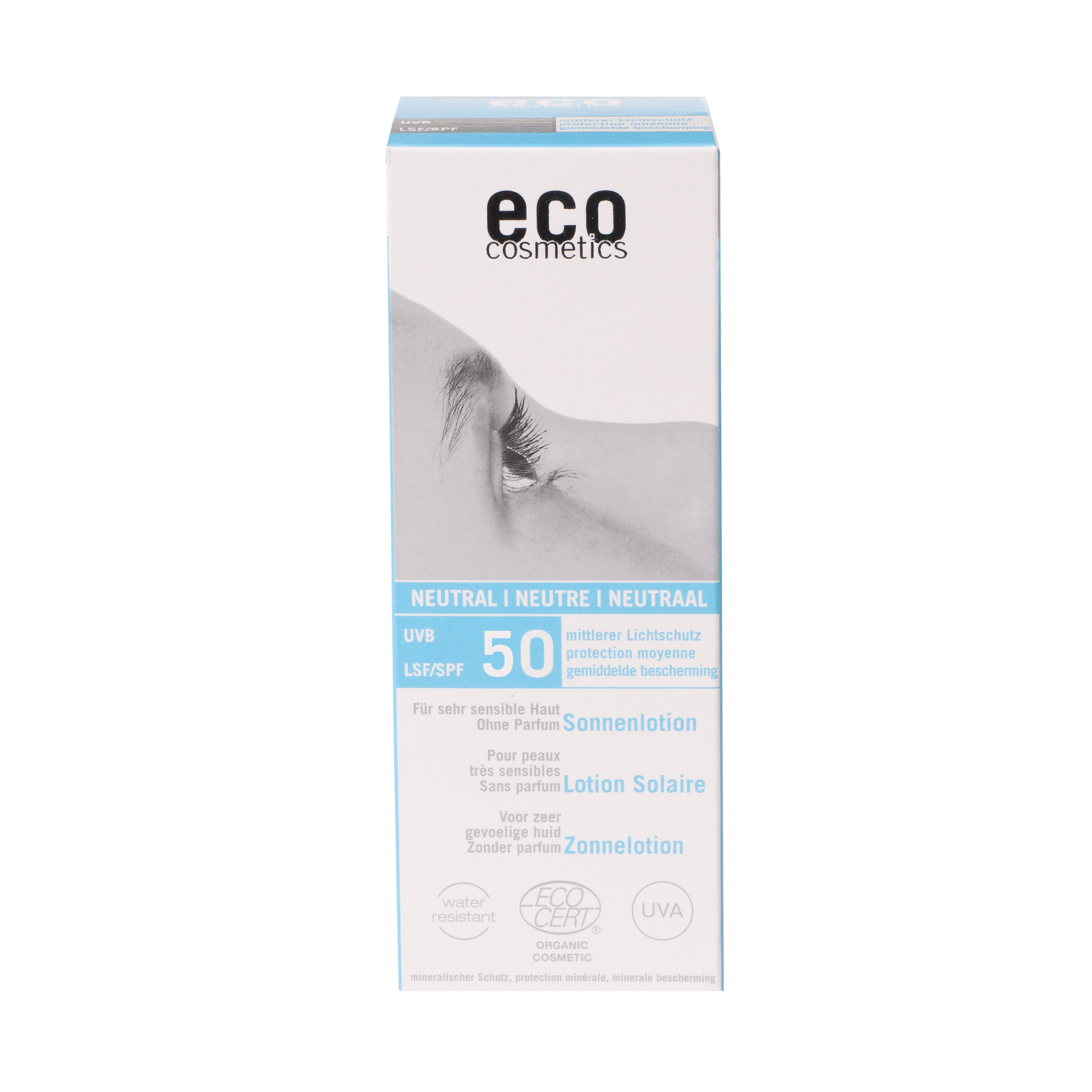 eco-cosmetics Sonnenlotion LSF 50, 100 ml - ohne Parfum