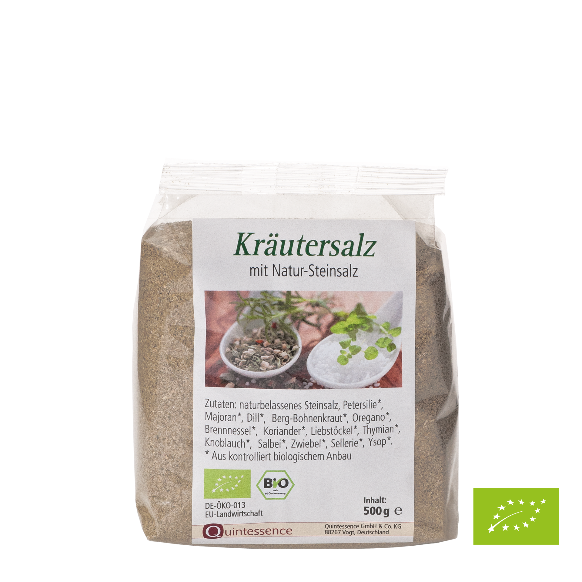 Kräutersalz, fein, Bio-Kräuter, 500 g