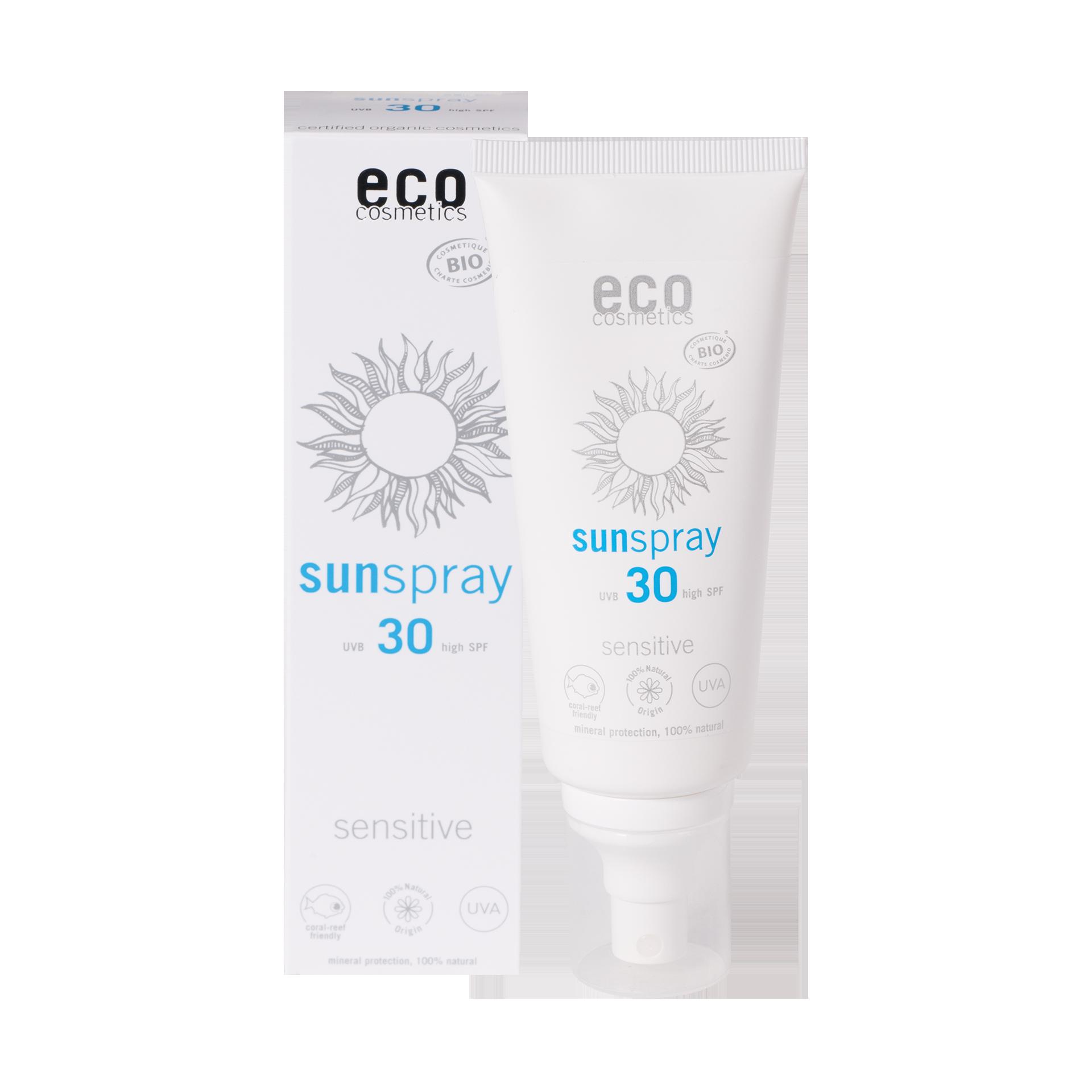 eco-cosmetics Sonnenspray LSF 30 sensitive, 100 ml