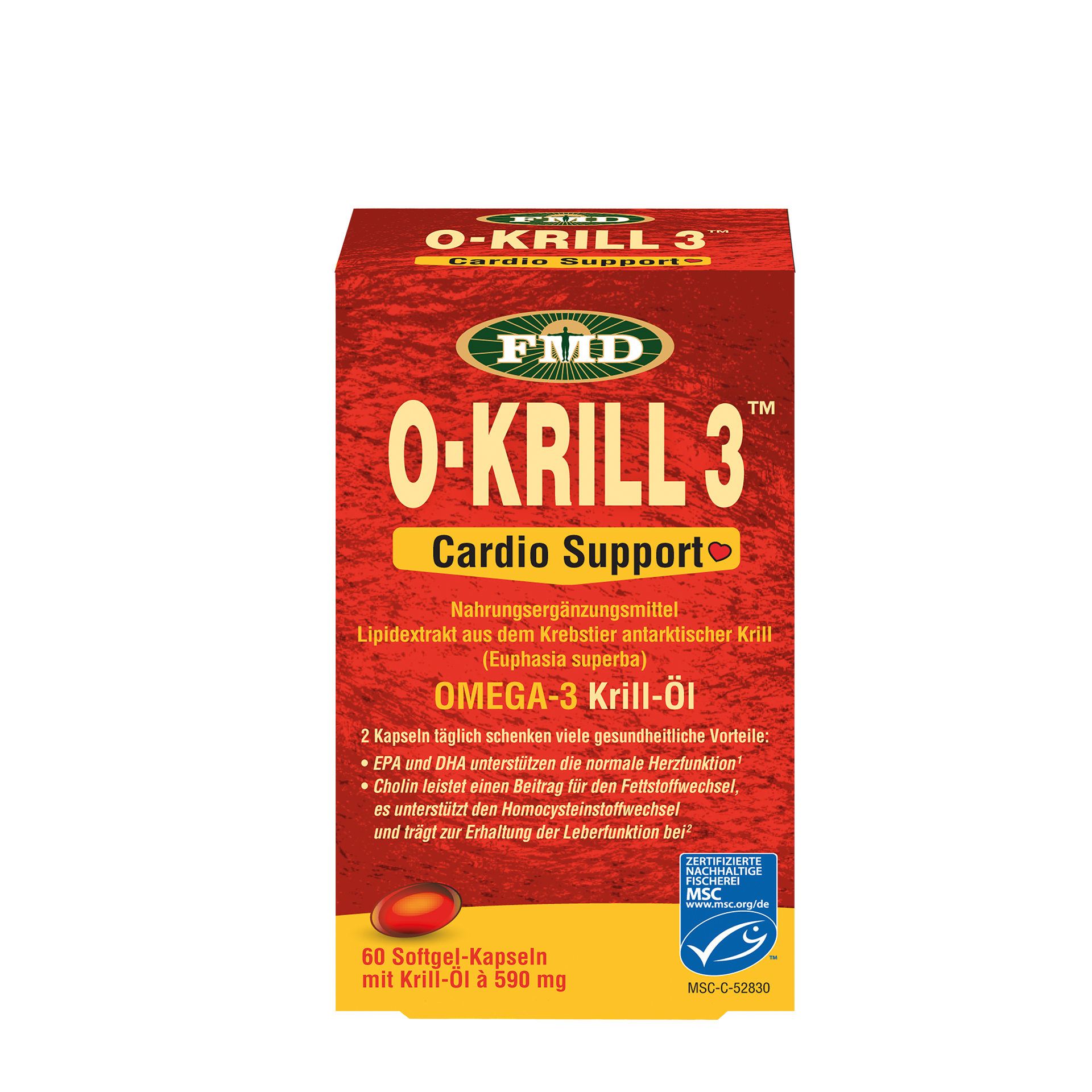 Krillöl O-Krill 3 Cardio Support