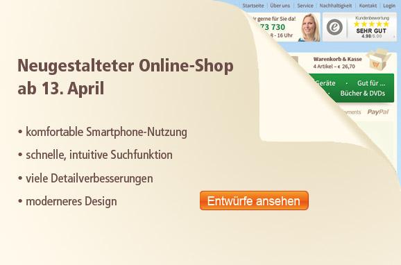 Neugestaltung Online-Shop
