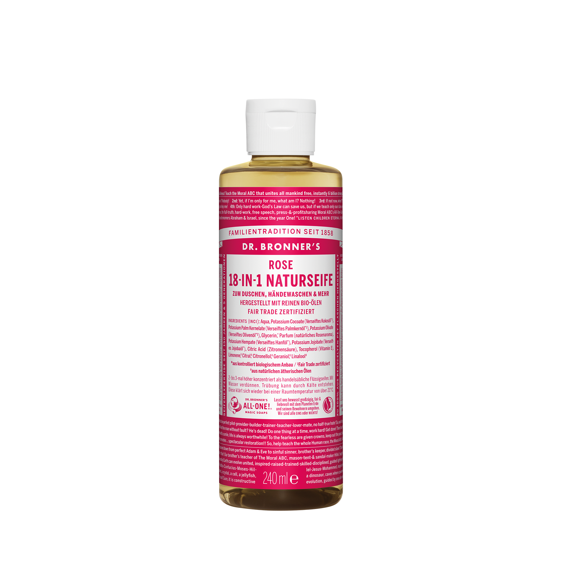 Dr. Bronner´s 18-in-1 Naturseife, Rose, 240 ml