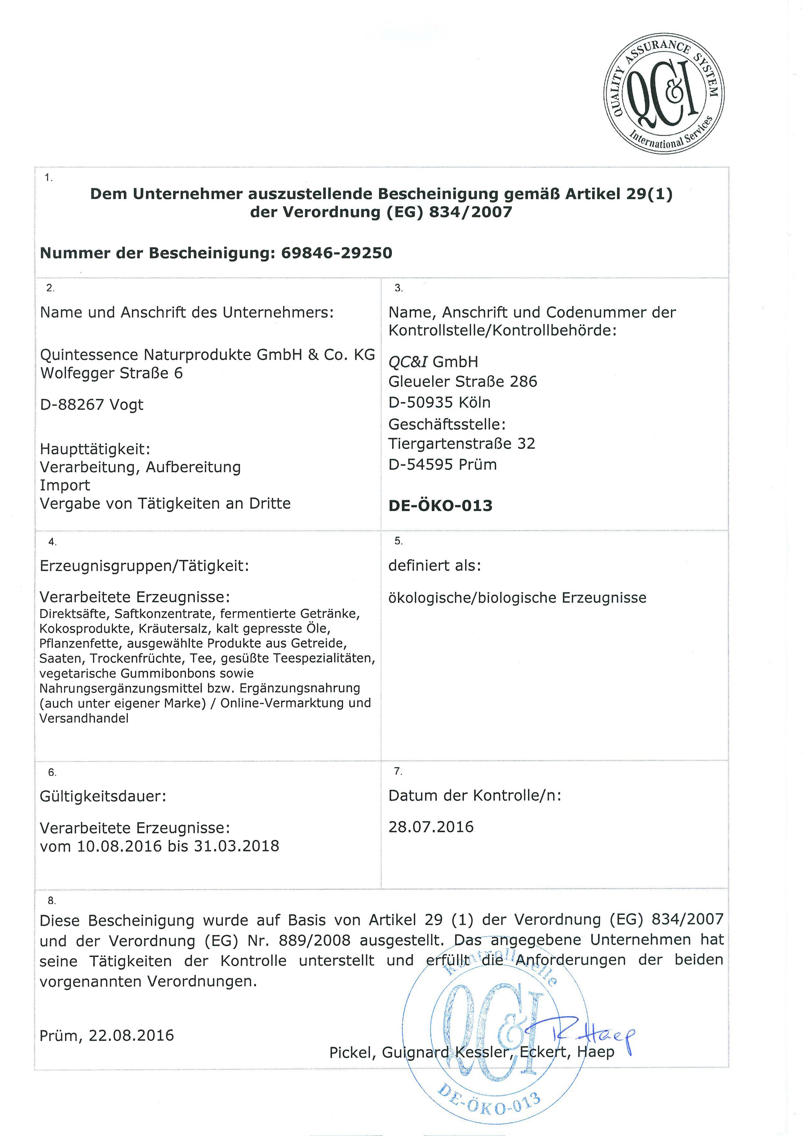 QCI-Zertifikat