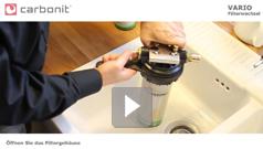 Filterwechsel Carbonit Vario Untertischfilter
