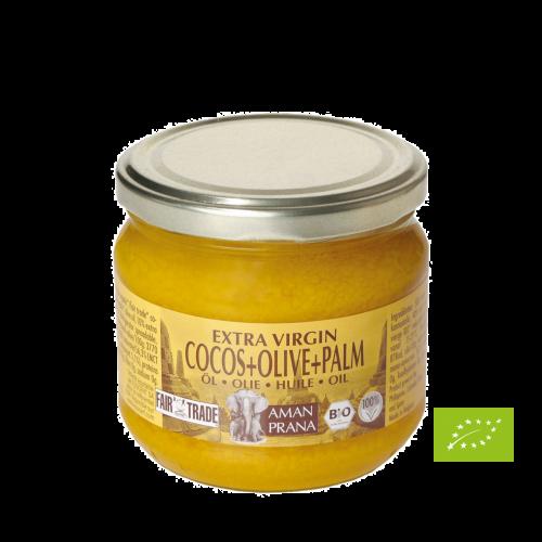 Amanprana Kokos+Oliven+ r. Palmen-Öl, Bio, 325 ml