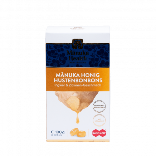 Manuka Honig Lutschbonbons, Ingwer & Zitrone, 100g