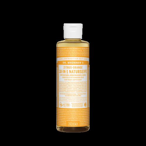 Dr. Bronner's 18-in-1 Naturseife, Zitrus-Orange, 240 ml