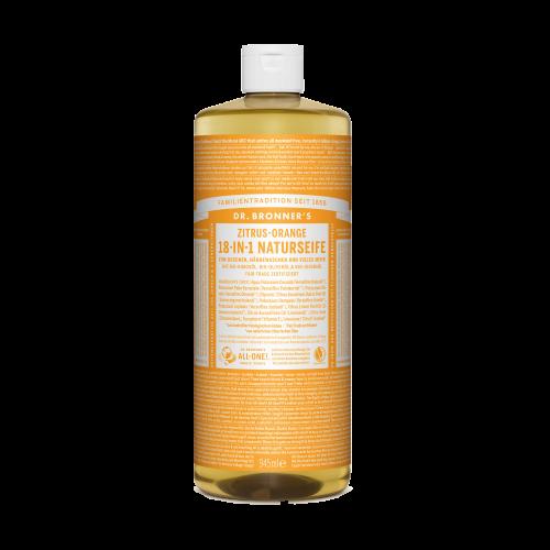 Dr. Bronner's 18-in-1 Naturseife, Zitrus-Orange, 945 ml