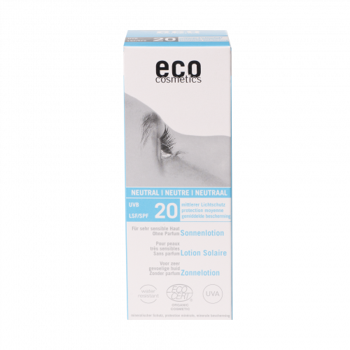 eco-cosmetics Sonnenlotion LSF 20, 100 ml - ohne Parfum